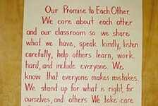 along with the pledge of allengiance the kids also say the classroom pledge that we write as a class on 1st day of school!