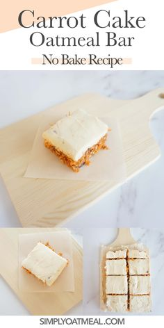No bake carrot cake oatmeal bars are a delicious vegan and gluten free snack idea! Take the challenge and try this zero bake recipe for yourself!