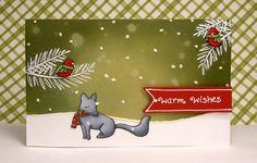 Lawn Fawn Christmas Card by Yainea