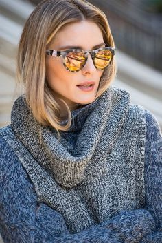 Olivia Palermo: winter outfit #sweater