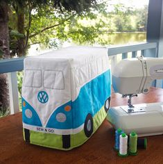 The Kombi Van sewing machine cover I made for Down Under Quilts