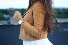 The Style Addition: COGNAC SUEDE MOTO JACKET