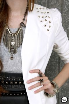 want studded blazer and leather studded skirt :)