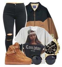 """12/22/15"" by clickk-mee ❤ liked on Polyvore featuring Michael Kors and NIKE"