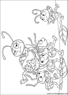 bugs life characters coloring pages - photo#44
