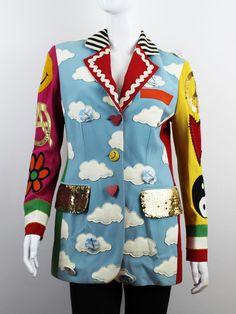 Iconic moschino vintage 1994 birthday repetita juvant blazer jacket very  rare 95dd717b6b7