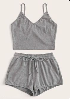 Solid Cami Top & Drawstring Waist Shorts - Solid Cami Top & Drawstring Waist Shorts Source by - Girls Fashion Clothes, Teen Fashion Outfits, Look Fashion, Girl Outfits, Emo Outfits, Sporty Fashion, Trendy Clothing, Sporty Outfits, Lolita Fashion