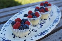 Fourth of JulyMini Berry Cheese Cakes...shh.. under 100 calories