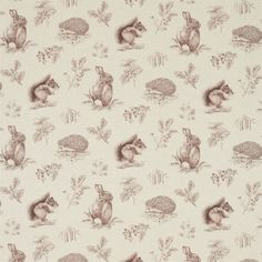 Sanderson - Traditional to contemporary, high quality designer fabrics and wallpapers   Products   British/UK Fabric and Wallpapers   Squirrel & Hedgehog (DWOW225523)   Woodland Walk