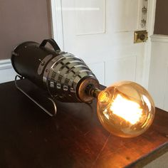 A Dudley Electric Antique Hoover converted into a Table or Wall Lamp by FionaBradshawDesigns on Etsy
