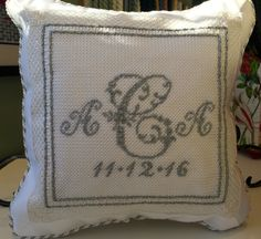 Marina made this ring bearer pillow for her daughter's wedding!!