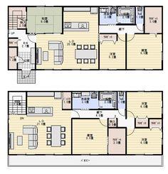 二世帯住宅 間取り 60坪 | 二世帯住宅間取り