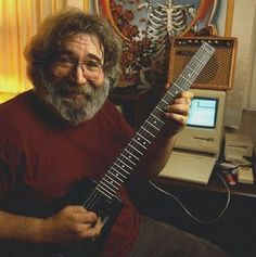 Jerry, a Steinberger and a Mac!