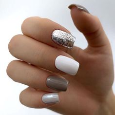 Nail art is a very popular trend these days and every woman you meet seems to have beautiful nails. It used to be that women would just go get a manicure or pedicure to get their nails trimmed and shaped with just a few coats of plain nail polish. Stylish Nails, Trendy Nails, Short Nail Designs, Nail Art Designs, Nails Design, Simple Nail Designs, Hair And Nails, My Nails, Nagellack Design