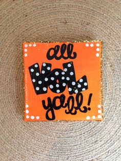 4x4 canvas all Vol ya'll by TwoChicsDesignsShop on Etsy, $8.00