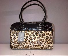 Atomic Tote Blk/Leopard Lunch Box, Kate Spade, Purses, Bags, Accessories, Women, Style, Fashion, Handbags