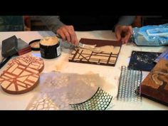 Wood ice demo for textured collages
