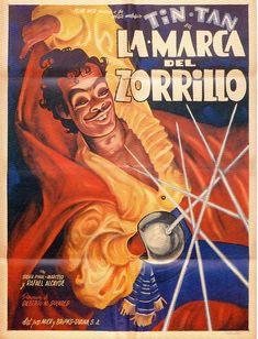"Poster de ""La marca del zorrillo"" (1950), protagonizada por Tin Tan."