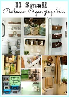 11 Fantastic Small Bathroom Organizing Ideas! See how you can maximize your bathroom storage.