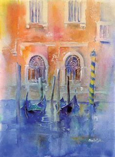 Sheila Gill   WATERCOLOR    Textures of Venice