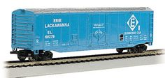 This N scale Erie Lackawanna 50' plug door Box Car is now shipping in clear plastic boxes for display and storage convenience. Click http://www.livelocomotion.com/product/BAC71078 to get your box car today for $14.00.