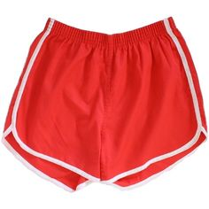Retro 1970s Shorts: Late 70s or Early 80s -Healthknit- Unisex red... ($23) ❤ liked on Polyvore featuring activewear, activewear shorts, shorts, bottoms, sports activewear and retro sportswear