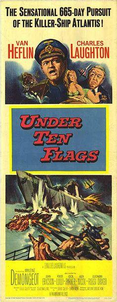 Under Ten Flags (1960) Stars: Van Heflin, Charles Laughton, Mylène Demongeot, John Ericson ~  Director: Duilio Coletti