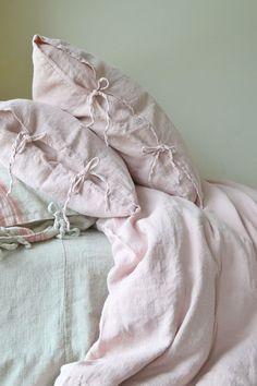 Rose Quartz Linen Pillow Cases | House of Baltic Linen on Etsy