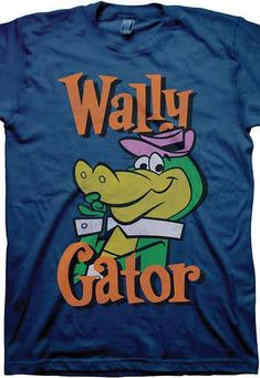 ce3cbdbd Wally Gator T-Shirt: Hanna Barbera Mens T-Shirt Wallt Gator Geeks: Enjoy  the comfort of home or travel the great outdoors in this men's style shirt  that has ...
