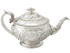 Scottish Sterling Silver Teapot - Antique George IV  SKU: W8811 Price  GBP £1,395.00  http://www.acsilver.co.uk/shop/pc/Scottish-Sterling-Silver-Teapot-Antique-George-IV-49p3005.htm#.VcsSu_lmqzQ