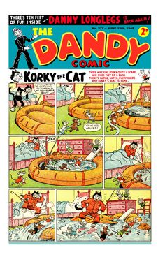 Dandy Comic, Life In The 1950s, Comic Covers, Types Of Art, Vintage Books, Funny Comics, Magazines, Scotland, June