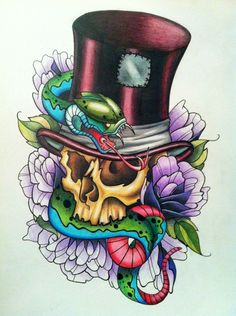 I like the top hat skull and flowers but not a big fan for snakes