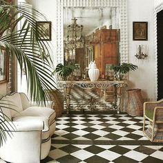 🌟Tante S!fr@ loves this📌🌟British Colonial Tropical Decor, Tropical Houses, Interior Walls, Interior And Exterior, Interior Architecture, My Living Room, Home And Living, West Indies Style, British West Indies