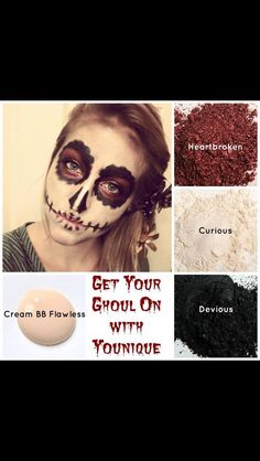 With Halloween coming, Younique products are perfect for creating the perfect face to go with your costume!!