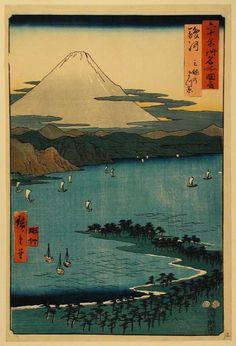 Sailing: Japanese woodblock print