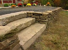 DIY Dry Stone Wall with steps
