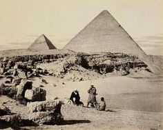 Pyramids of Cheops and Cephrenes. Francis Bedford