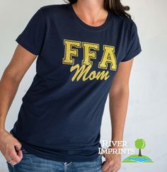 FFA MOM, sparkly glitter tee shirt, Choose from a Regular Unisex or Ladies' Fitted Fitted tee