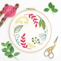 Hand Embroidery Kits, Wooden Embroidery Hoops, Embroidery Scissors, Embroidery Transfers, Embroidery Stitches, Embroidery Patterns, Long And Short Stitch, Lazy Daisy Stitch, Running Stitch