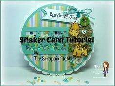 Baby Shower Shaker Card Tutorial  Cricut and the Fuse Tool The Scrappin Rabbit- YouTube