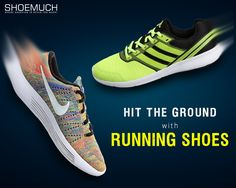 Explore the town with our awesome pairs of Running Shoes by ShoeMuch! #RunningShoes #MenFootwear #MenShoes #ShoeMuch