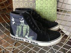 KISS Dressed to Kill Vans sneakers US MEN'S 85/9 by jamric on Etsy, $50.00 - tennarit kengät