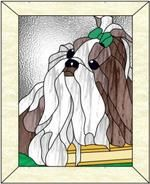 Everything About Energetic Shih Tzu Grooming Stained Glass Quilt, Stained Glass Birds, Faux Stained Glass, Stained Glass Projects, Stained Glass Patterns, Stained Glass Windows, Art Nouveau, Puppy Quotes, Puppy Costume