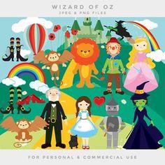 Wizard of Oz clipart - clip art Dorothy scarecrow tin man