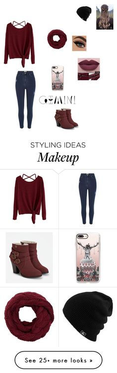 """"""""""" by lingering-souls-vocals1 on Polyvore featuring JustFab, River Island, Casetify and NYX"""