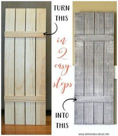 Diy Shutters Front And Back Dimensions Diy Ideas