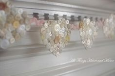 button-covered hearts garland