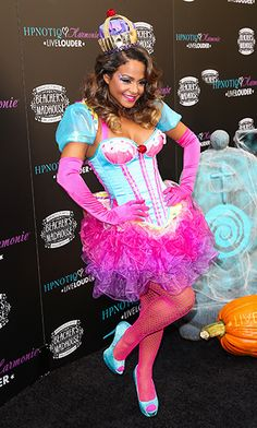 Celebs' 2012 Halloween Costumes: Christina Milian dressed up as a cupcake - such a cute costume!