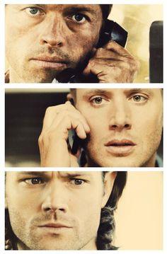 "Castiel, Dean, and Sam (Gadreel?) ||| Supernatural 9x09 ""Holy Terror"""
