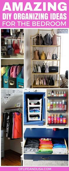 Ok, so ALL of these bedroom organizing ideas are genius. I really want to try the handbag idea but nonetheless this is definitely a pin worth sharing. #home #organizing #bedroom #bedroomideas #declutter #organize #organizing #organisation #lifehacks #tips #tipsandtricks